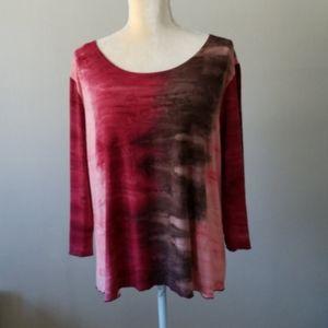 Dress Barn XL Wine Colored Top